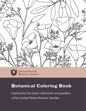 U.S. Botanic Garden coloring book cover